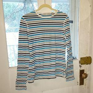 Liz Claiborne Striped Long Sleeve Top